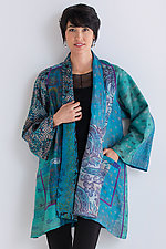 Silk A-Line Jacket #1 by Mieko Mintz  (Size 1 (2-16), One of a Kind Jacket)