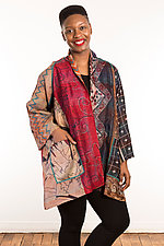 Silk A-Line Jacket #5 by Mieko Mintz  (Size 1 (2-16), One of a Kind Jacket)