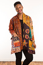 Silk A-Line Jacket #6 by Mieko Mintz  (Size 1 (2-16), One of a Kind Jacket)
