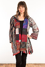 Silk A-Line Jacket #10 by Mieko Mintz  (Size 1 (2-16), One of a Kind Jacket)