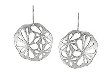 Large Flora Earrings by Sarah Richardson (Silver Earrings)