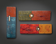 Zen Rectangles by Rhonda Cearlock (Ceramic Wall Sculpture)