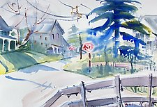 Mountain Hamlet by Alix Travis (Watercolor Painting)