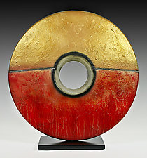 Golden Sunburst by Cheryl Williams (Ceramic Sculpture)