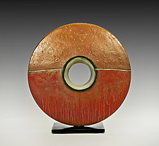 Copper Sunburst by Cheryl Williams (Ceramic Sculpture)