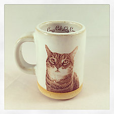 Tabby Cat Espresso Cup by Chris Hudson and Shelly  Hail (Ceramic Mug)