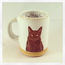 Black Cat Espresso Cup by Chris Hudson and Shelly  Hail (Ceramic Mug)