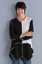 Pucker Color Block Tunic by Noblu   (Knit Top)