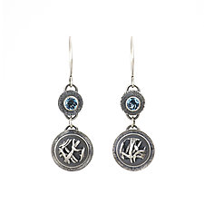 Tangle Orb Gemstone Earrings by Janet Blake (Silver & Stone Earrings)