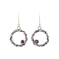 Tangle Halo Gemstone Earrings by Janet Blake (Silver & Stone Earrings)