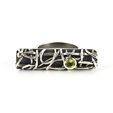 Tangle Gemstone Bar Ring by Janet Blake (Silver & Stone Ring)
