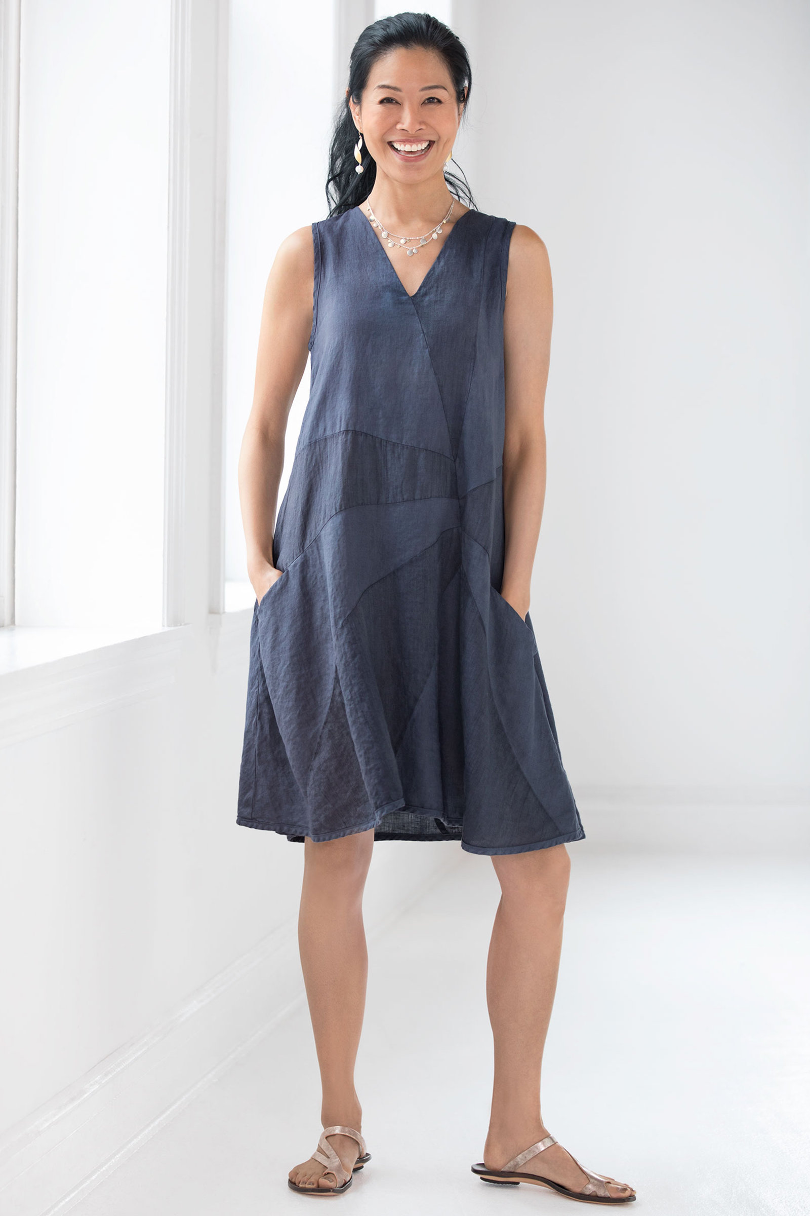Pinwheel Dress By Cynthia Ashby Linen Dress Artful Home
