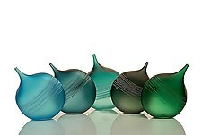 Tipped Bottle Ensemble by David Royce (Art Glass Bottles)