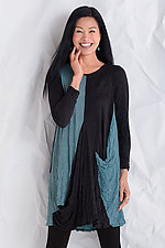 Crinkle Equinox Tunic by Comfy USA  (Knit Tunic)