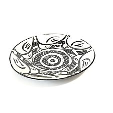 Disc Plate with Birds by Matthew A. Yanchuk (Ceramic Plate)