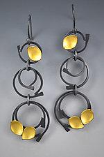 Cosmic Rings Earrings by Judith Neugebauer (Gold & Silver Earrings)