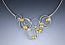 Cosmic Rings Necklace by Judith Neugebauer (Gold & Silver Necklace)