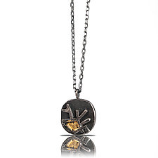 Rounded Square Astro Pendant by Lori Gottlieb (Gold & Silver Necklace)