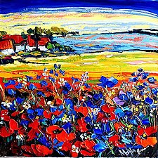 Landscape With Poppies by Maya Green (Oil Painting)