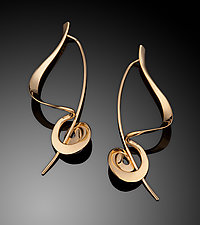 Sculptural Earrings in 14k Gold by Ben Dyer (Gold Earrings)