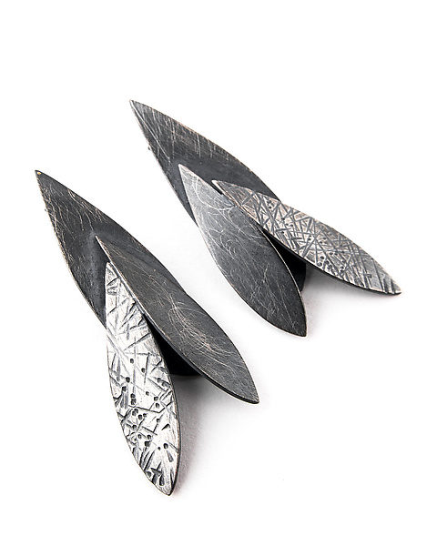 Small Triple Feather Post Earrings