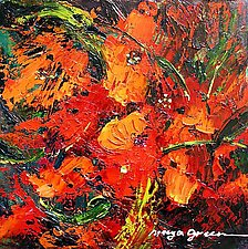 Bloom Red by Maya Green (Oil Painting)