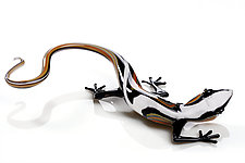 Lizard by Jennifer Caldwell and Jason Chakravarty (Art Glass Sculpture)