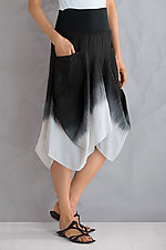 Ombre Linen Skirt by Luna Luz  (Linen Skirt)