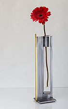 Finestra Tall Vase & Candleholder by Ken Girardini and Julie Girardini (Metal Candleholder or Vase)