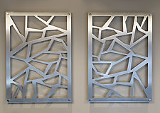 Ice Breaker Panel by Ken Girardini and Julie Girardini (Metal Wall Sculpture)
