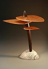 Stoneflower by Derek Secor Davis (Wood Console Table)