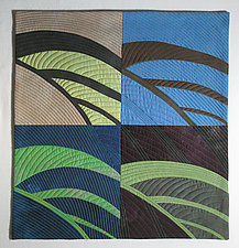Figure Ground Study 3, Leaf by Karen Schulz (Fiber Wall Art)