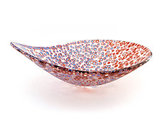 Nido 4 Mountain Spring and Fire Opal Bowl by Joseph Enszo (Art Glass Bowl)