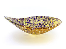 Nido 8 Eggplant and Amber Bowl by Joseph Enszo (Art Glass Bowl)