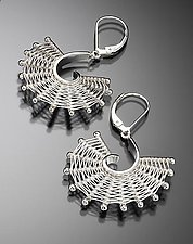 Large Fandango Earrings by Marie Scarpa (Silver Earrings)