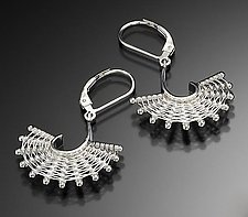 Small Fandango Earrings by Marie Scarpa (Silver Earrings)