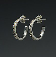 Medium Gold Dust Hoops by Dean Turner (Gold & Silver Earrings)