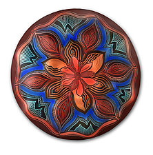 Freda Mandala by Natalie Blake (Ceramic Wall Sculpture)