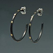 Large City Lights Hoops by Dean Turner (Gold & Silver Earrings)