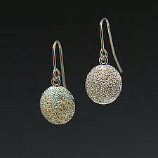 Small Gold Dust Dome Earrings by Dean Turner (Gold & Silver Earrings)