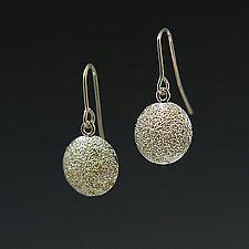 Small Gold Dust Dome Earrings by Dean Turner (Gold & Silver Earrings)