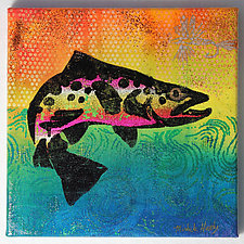 Trout: Rainbow #1 by Michele Hardy (Acrylic Painting)