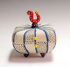 Striped Pillow Box by Vaughan Nelson (Ceramic Box)
