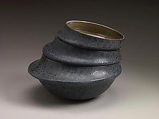 Black Serving Bowls by Kaete Brittin Shaw (Ceramic Bowl)