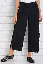 Pucker Cropped Pant by Noblu   (Knit Pant)