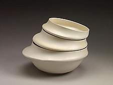 White Serving Bowls by Kaete Brittin Shaw (Ceramic Bowl)