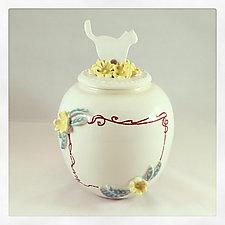 English Porcelain Customizable Cat Urn by Chris Hudson and Shelly  Hail (Ceramic Jar)