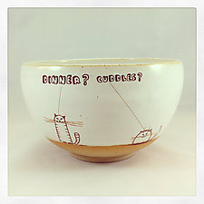 Doodle Cats Cereal Bowl by Chris Hudson and Shelly  Hail (Ceramic Bowl)