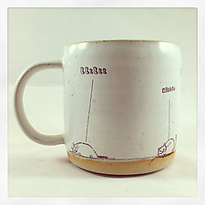 Doodle Cats Mug by Chris Hudson and Shelly  Hail (Ceramic Mug)