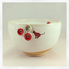 Black Cat Collection Cereal Bowl by Chris Hudson and Shelly  Hail (Ceramic Bowl)